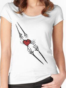 Reach for Love T-Shirt Women's Fitted Scoop T-Shirt