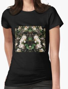 Floral chic Womens Fitted T-Shirt
