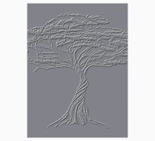 Silver Tree of Life , Zen African Bonsai Grey One Piece - Long Sleeve