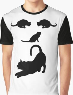 Funny Cats Face - Cool Cat's T-Shirt  Graphic T-Shirt