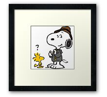 snoopy detective Framed Print