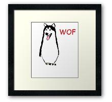WOF PENGUIN Framed Print