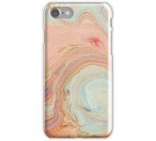 Marble Swirl- peach iPhone Case/Skin