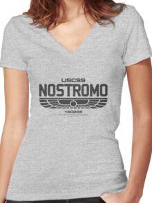 Sumerian Simbol Weyland Industries Nostromo Women's Fitted V-Neck T-Shirt