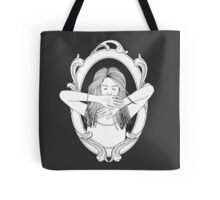 more than meets the eye (b&w) Tote Bag