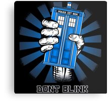 Don't Blink - Doctor Who Metal Print