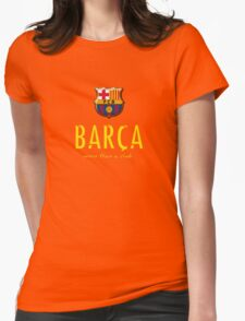Barcelona FC - Logos more than a club  Womens Fitted T-Shirt