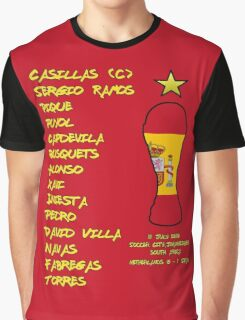 Spain 2010 World Cup Final Winners Graphic T-Shirt