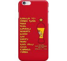Spain 2010 World Cup Final Winners iPhone Case/Skin