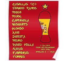 Spain 2010 World Cup Final Winners Poster