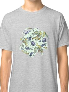 vintage floral pattern watercolor drawing Classic T-Shirt