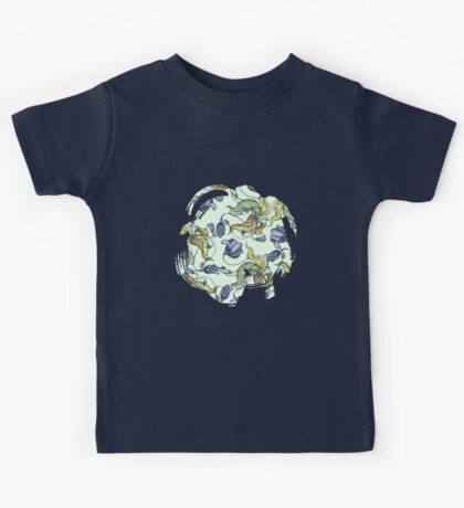 vintage floral pattern watercolor drawing Kids Tee