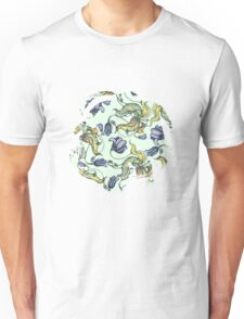 vintage floral pattern watercolor drawing Unisex T-Shirt