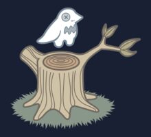 ghost bird and tree trunk Baby Tee