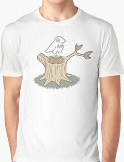 ghost bird and tree trunk Graphic T-Shirt