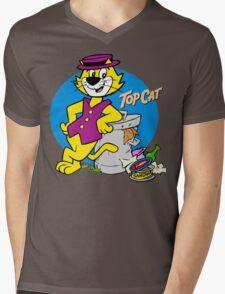 Stylish Cat Mens V-Neck T-Shirt