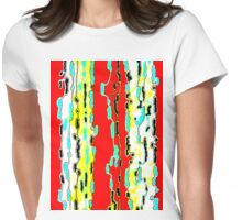 Bush Ants Abstract Digital Var 10 solid background Womens Fitted T-Shirt