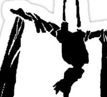 Aerial silks - Yeah, I lift - Black design Sticker