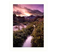 12 Mile Creek - Queenstown - New Zealand Art Print