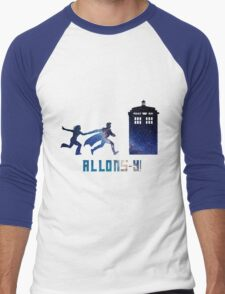 Allons-y Tenth Doctor and Companion Men's Baseball ¾ T-Shirt