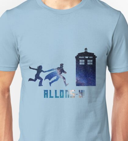 Allons-y Tenth Doctor and Companion Unisex T-Shirt