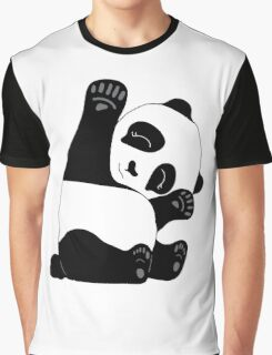 Waving Panda Graphic T-Shirt
