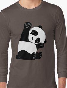 Waving Panda Long Sleeve T-Shirt