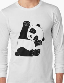Waving Panda Long Sleeve T-Shirt