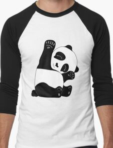 Waving Panda Men's Baseball ¾ T-Shirt