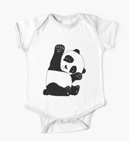 Waving Panda One Piece - Short Sleeve