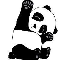 Waving Panda Photographic Print