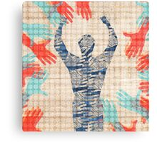 Hands and Man Canvas Print