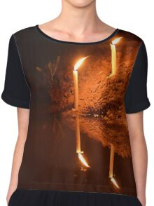 Candles on the edge of the river Chiffon Top