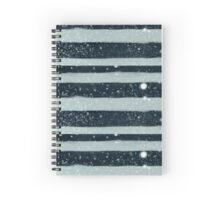 Snowy Stripes Spiral Notebook
