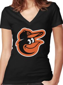 Redskins Orioles Women's Fitted V-Neck T-Shirt