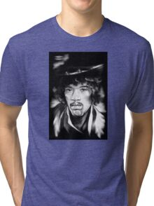 Jimmy in Black and White Tri-blend T-Shirt