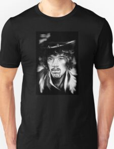 Jimmy in Black and White Unisex T-Shirt