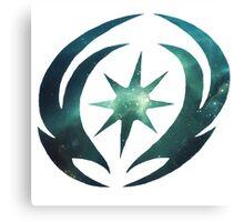 Vallite Emblem Galaxy Canvas Print
