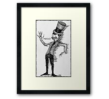 Side show performer Framed Print