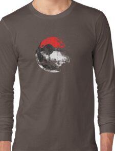 Pokeball Death Star Long Sleeve T-Shirt