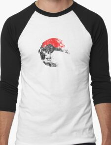 Pokeball Death Star Men's Baseball ¾ T-Shirt