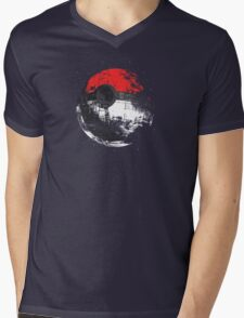Pokeball Death Star Mens V-Neck T-Shirt
