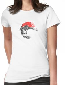 Pokeball Death Star Womens Fitted T-Shirt