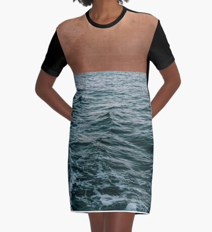 Ocean + Copper #redbubble #lifestyle Graphic T-Shirt Dress