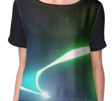 abstract glowing light Chiffon Top