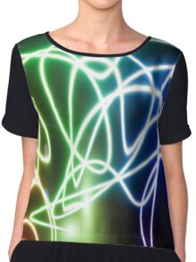 light abstract Chiffon Top