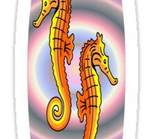 Surfboard Seahorses Sticker