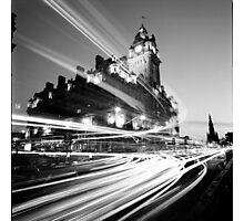 Edinburgh, Scotland, Long exposure Black and White Photo Photographic Print