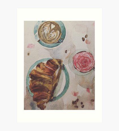 Coffee and Flowers Art Print