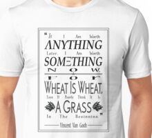"""For Wheat is Wheat"" in Black Unisex T-Shirt"